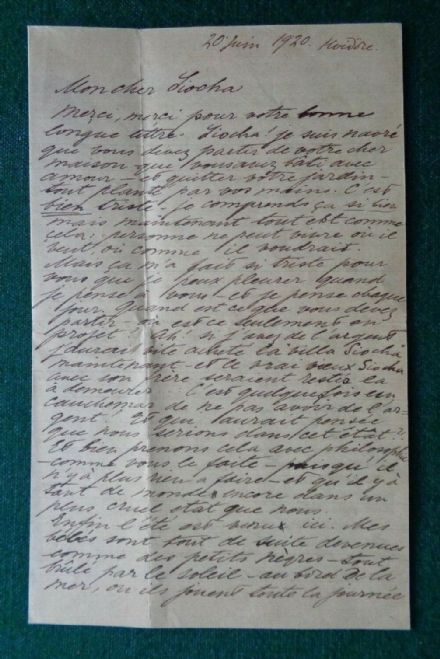 Antique Signed Letter Grand Duchess Olga Romanov Russia Thormeyer 1920 Hvidore